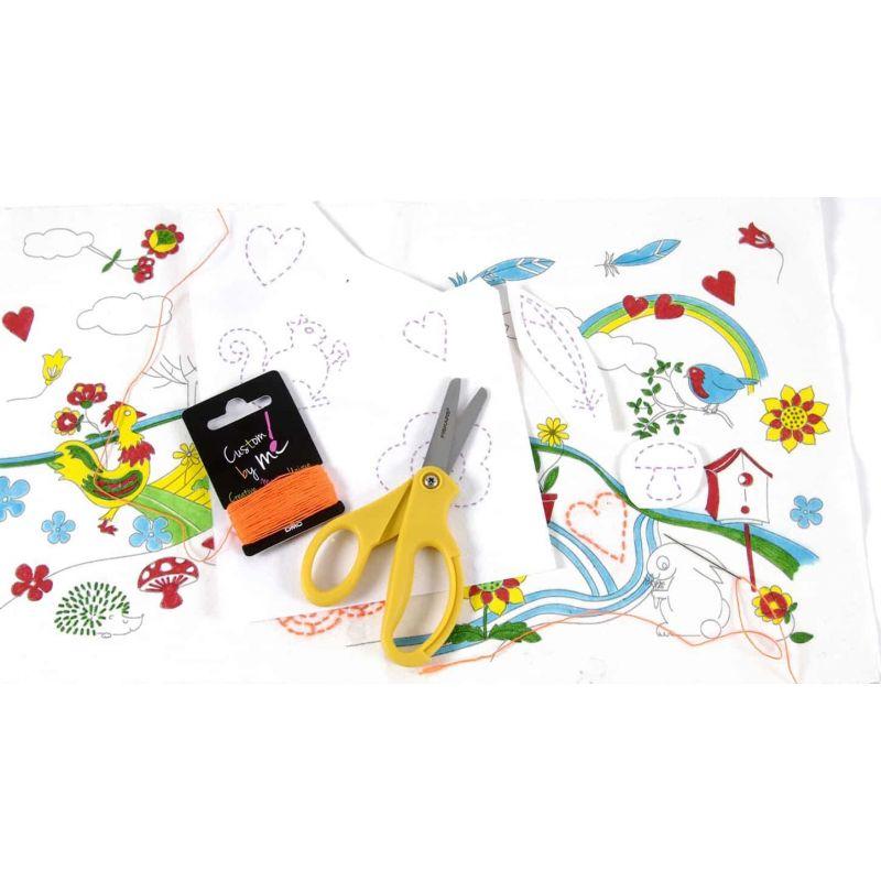 Kit de pintar y bordar para niños. Contiene todo lo necesario