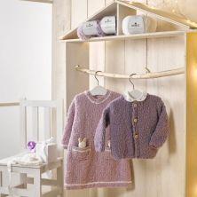 prendas tejidas con lana Bouclette Dmc color 041