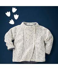 Chaqueta bebé realizada con lana Pingorex Baby color 1431