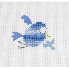 Kit punto de cruz Dmc niños Pajarito azul