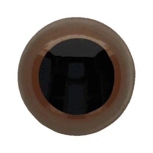 Ojos de seguridad para amigurumis color marrón