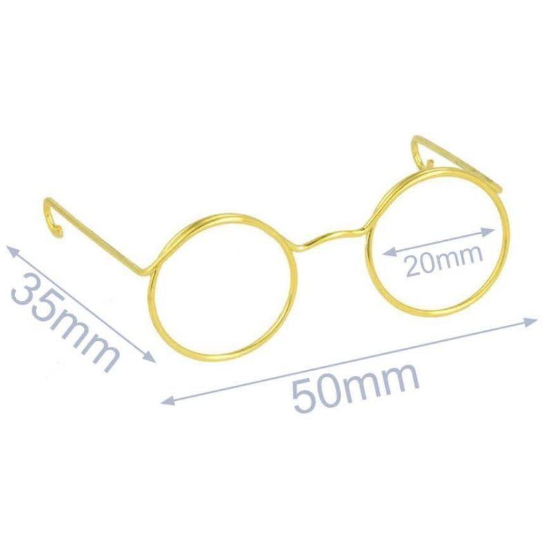 Gafas para muñecos oro