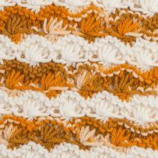 Muestra tejida con lana Capuccino