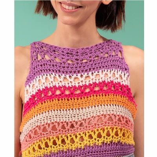 Ganchillo: Camiseta Arcoiris